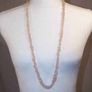 Possible rose quartz chip necklace